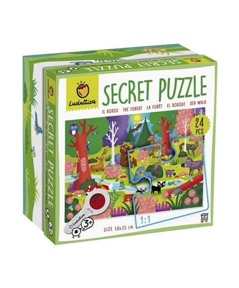 Puzzle secreto del bosque -...