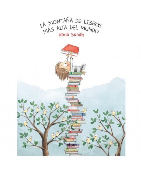 La montaña de libros más...