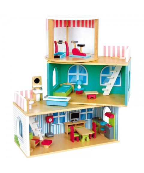 Casa de muñecas móvil