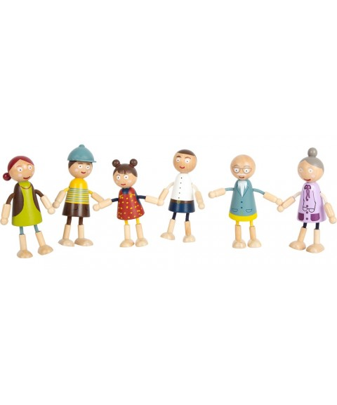 Familia de muñecos flexibles