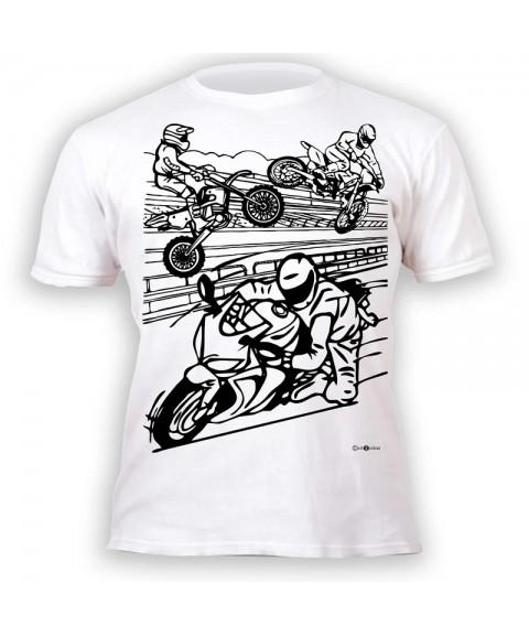 Camiseta para colorear - Motos