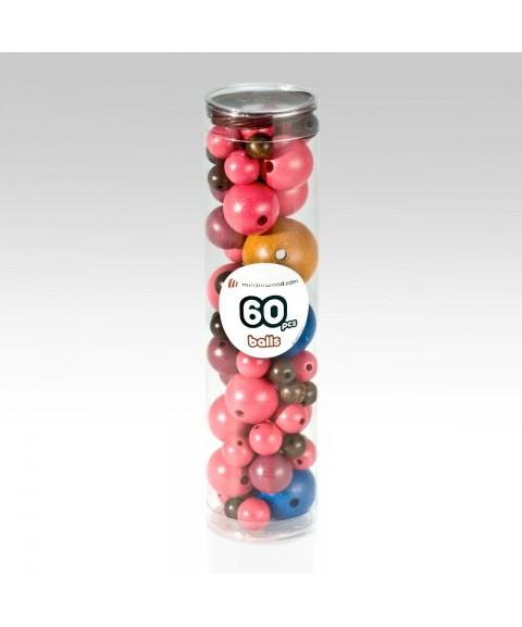 Nigth 60 bolas de madera