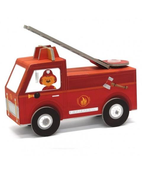 Camión de bomberos de cartón