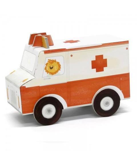 Ambulancia de cartón