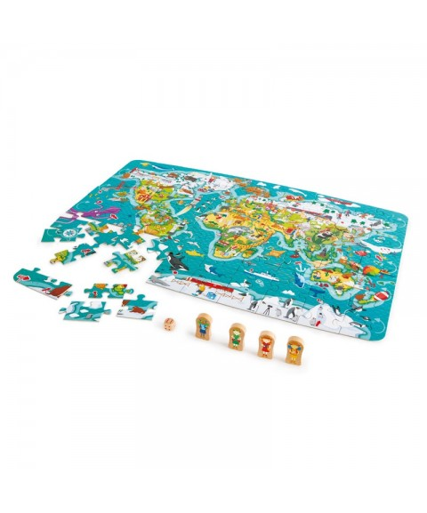 Puzzle-Juego Vuelta al mundo